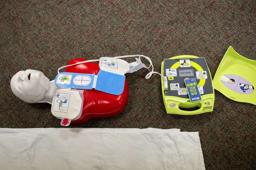 The AED and dummy training equipment