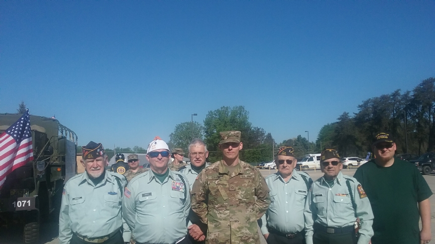 Many Veterans proudly walked in the parade and participated in the Coleman Memorial Ceremony