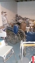 we have crutches, walkers, and other mobility devices.